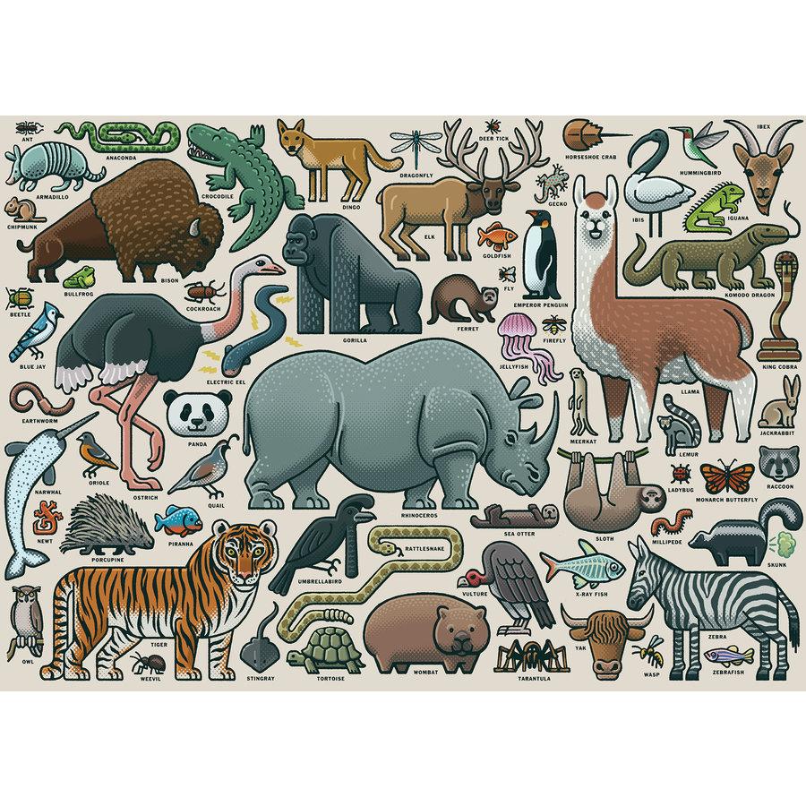Wilde Dieren - puzzel van  1000 stukjes-1