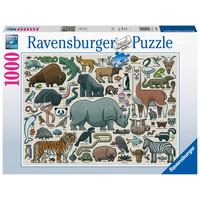 thumb-Wilde Dieren - puzzel van  1000 stukjes-2