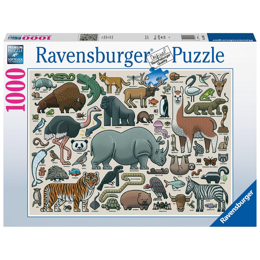 Wilde Dieren - puzzel van  1000 stukjes-2