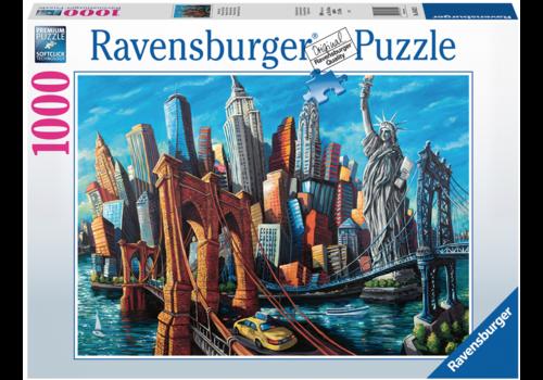Ravensburger Welkom in New York - 1000 stukjes