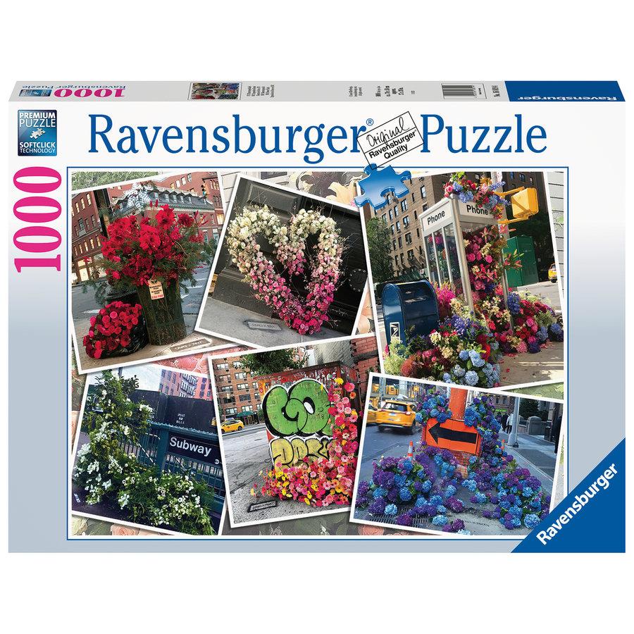 Bloemenpracht in New York - puzzel van  1000 stukjes-1