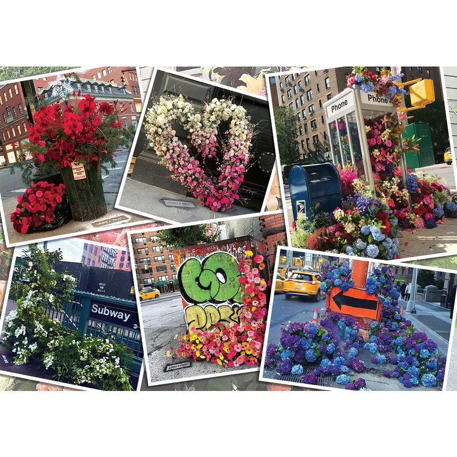 Bloemenpracht in New York - puzzel van  1000 stukjes-2