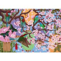 thumb-Kersenboom in bloei - puzzel van  1000 stukjes-2