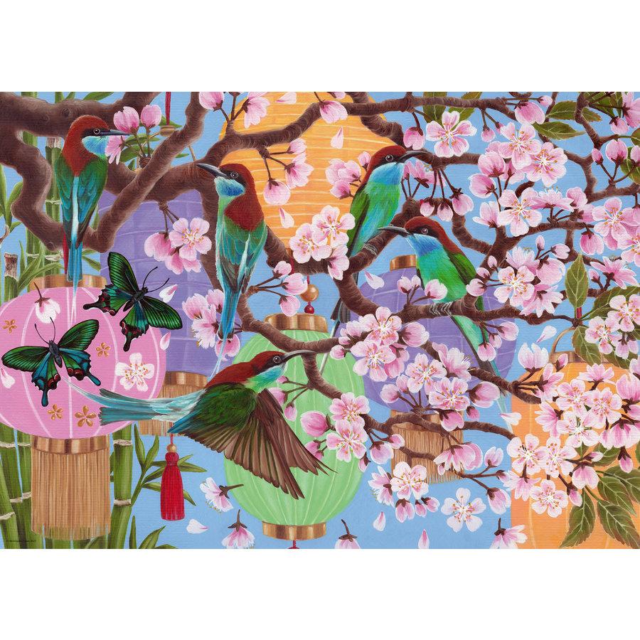 Kersenboom in bloei - puzzel van  1000 stukjes-2