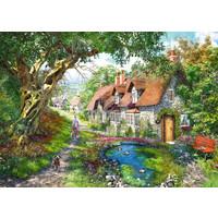 thumb-Flower Hill Lane - puzzel van  1000 stukjes-2