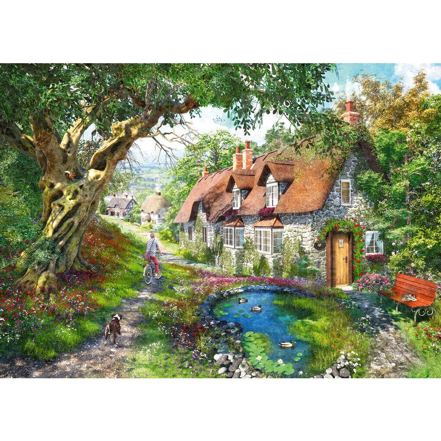 Flower Hill Lane - puzzel van  1000 stukjes-2