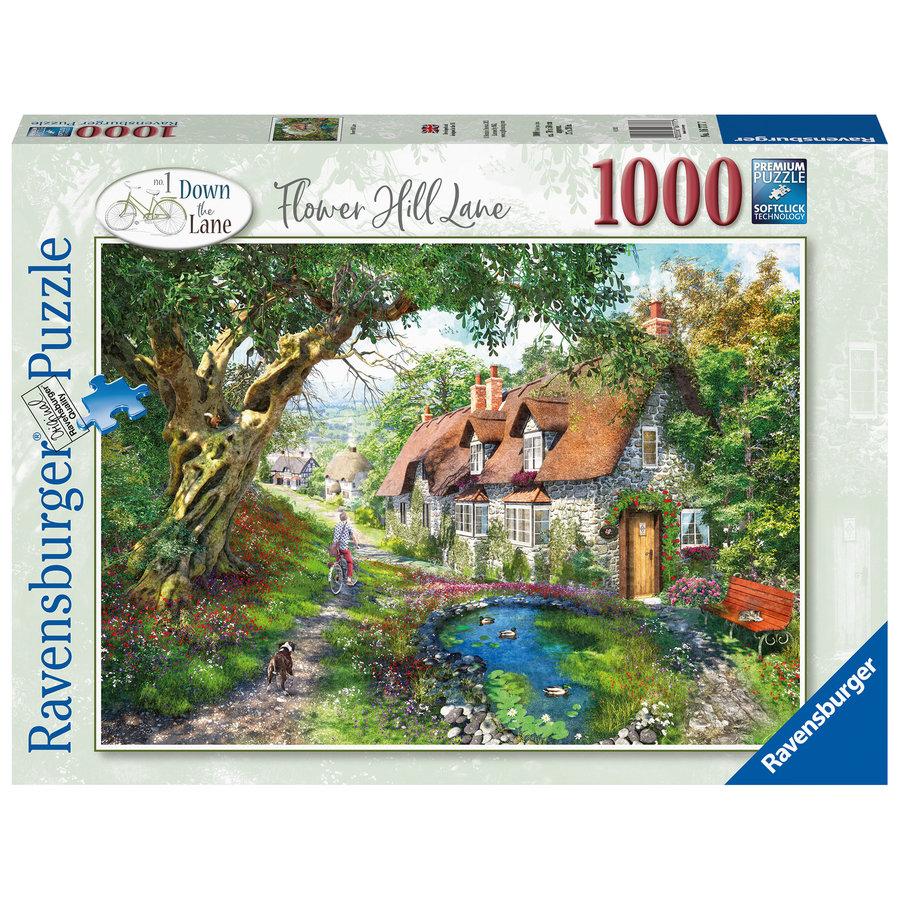 Flower Hill Lane - puzzel van  1000 stukjes-1