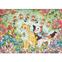 thumb-Kattenvriendschap - puzzel van  1000 stukjes-2