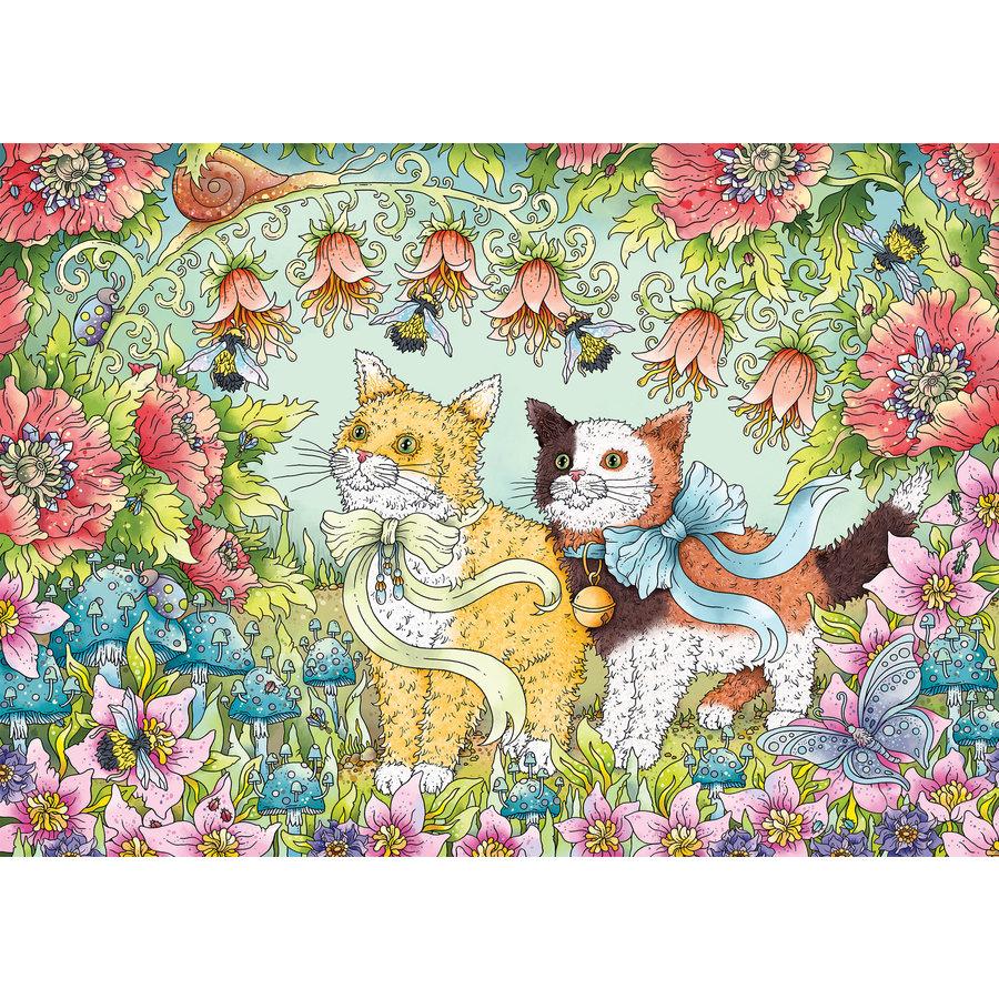 Kattenvriendschap - puzzel van  1000 stukjes-2