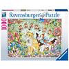 Ravensburger Kattenvriendschap - puzzel van  1000 stukjes