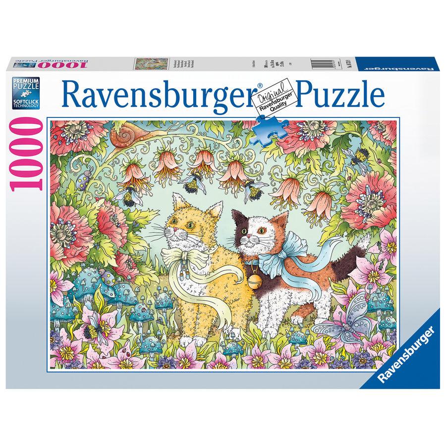 Kattenvriendschap - puzzel van  1000 stukjes-1