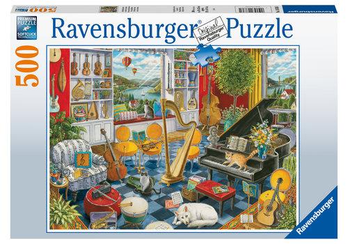 Ravensburger De muziekkamer - 500 stukjes