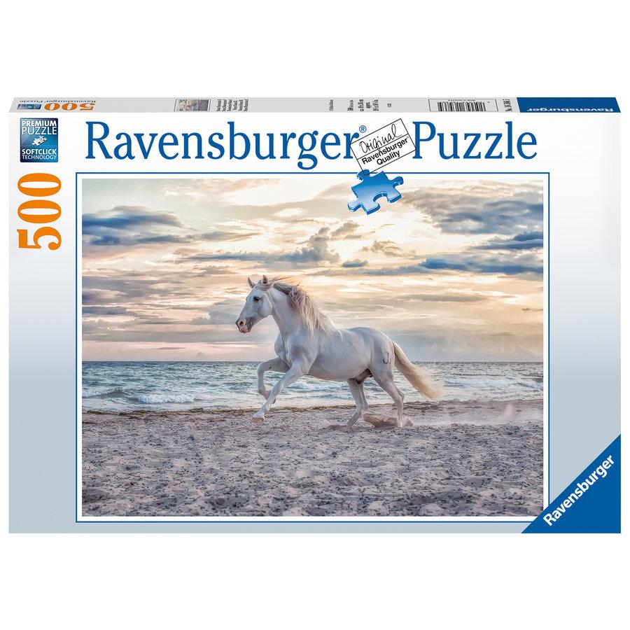 Paard op het strand - puzzel van 500 stukjes-2