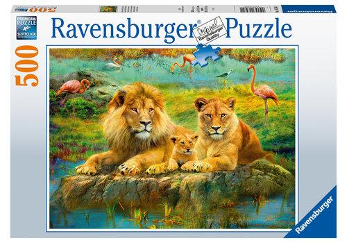 Ravensburger Leeuwen in de savanne - 500 stukjes
