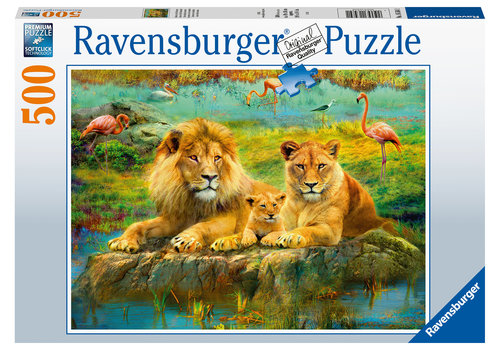 Ravensburger Lions in the savannah - 500 pieces
