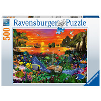 thumb-Schildpad in the rif - puzzel van 500 stukjes-1
