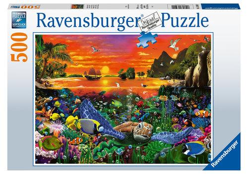 Ravensburger Schildpad in the rif - 500 stukjes