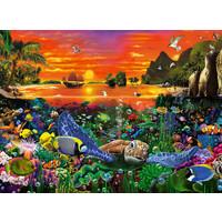 thumb-Schildpad in the rif - puzzel van 500 stukjes-2