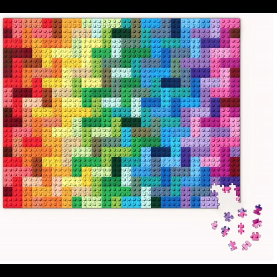 LEGO - Rainbow Bricks  - puzzel - 1000 stukjes-2