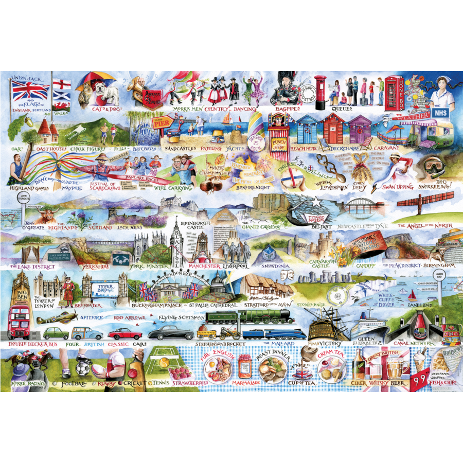 Cream Teas & Queuing - puzzle de 2000 pièces-2
