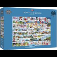 thumb-Cream Teas & Queuing - puzzle de 2000 pièces-1