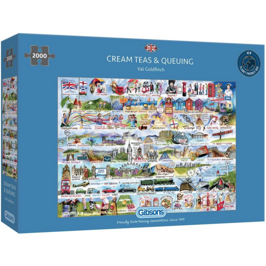 Cream Teas & Queuing - puzzle de 2000 pièces-1