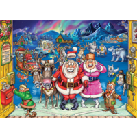 thumb-Wasgij Christmas 17 - Elf Inspection! - 2 puzzels van 1000 stukjes-2