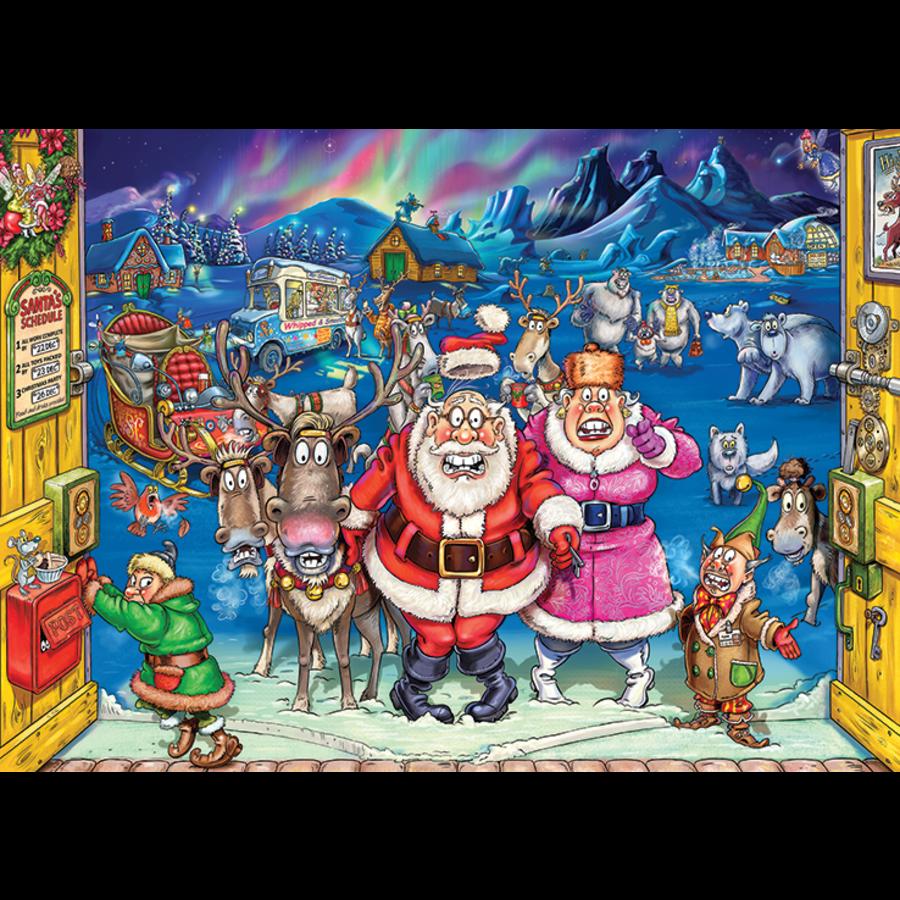 Wasgij Christmas 17 - Elf Inspection! - 2 puzzels van 1000 stukjes-2