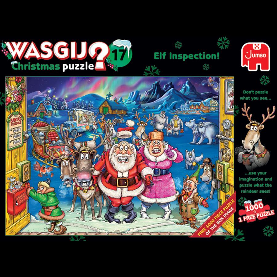 Wasgij Christmas 17 - Elf Inspection! - 2 puzzels van 1000 stukjes-1
