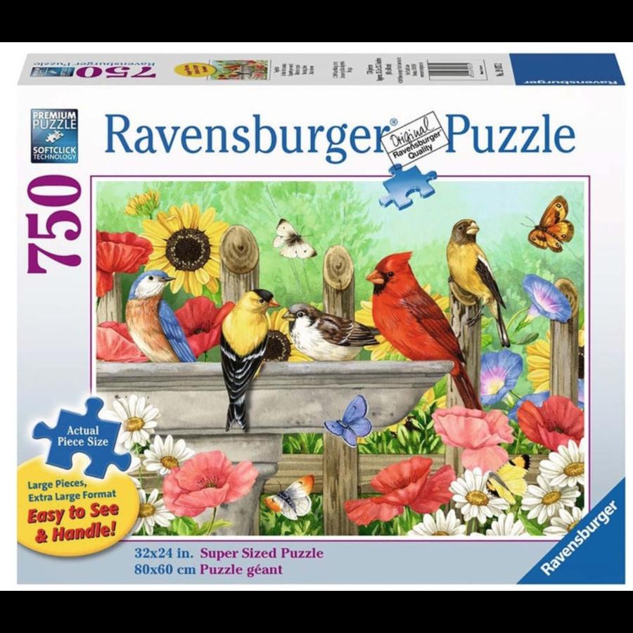 Badende vogels - puzzel van 750 XXL stukjes-1