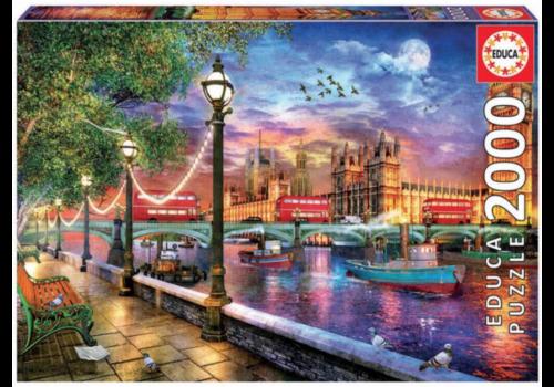 Educa Londen bij de ondergaande zon - 2000 stukjes