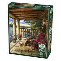 thumb-Cabin Porch - puzzel van 1000 stukjes-2