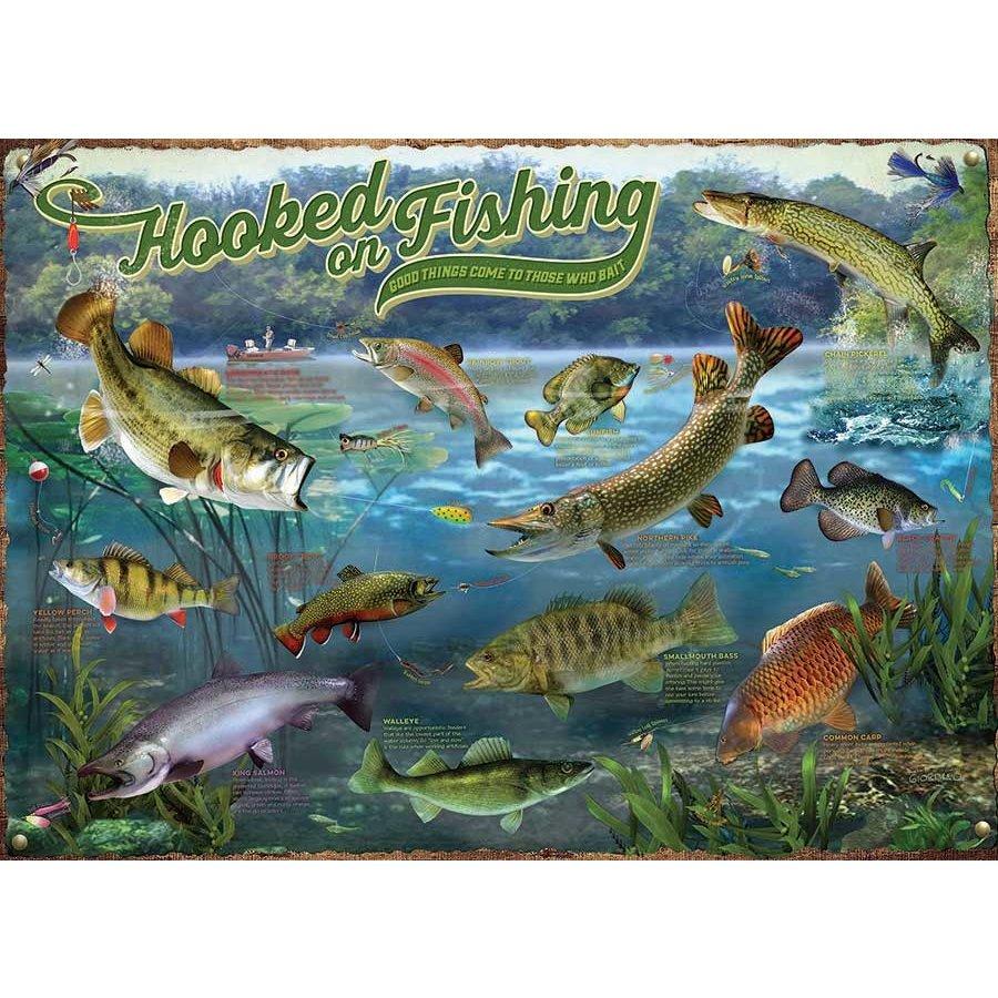 Verslingerd aan vissen - puzzel van 1000 stukjes-1