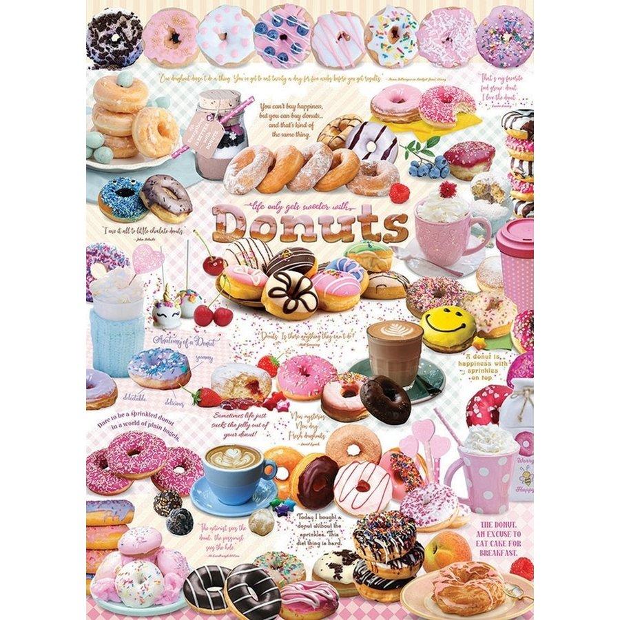 Tijd voor Donuts - puzzel van 1000 stukjes-1