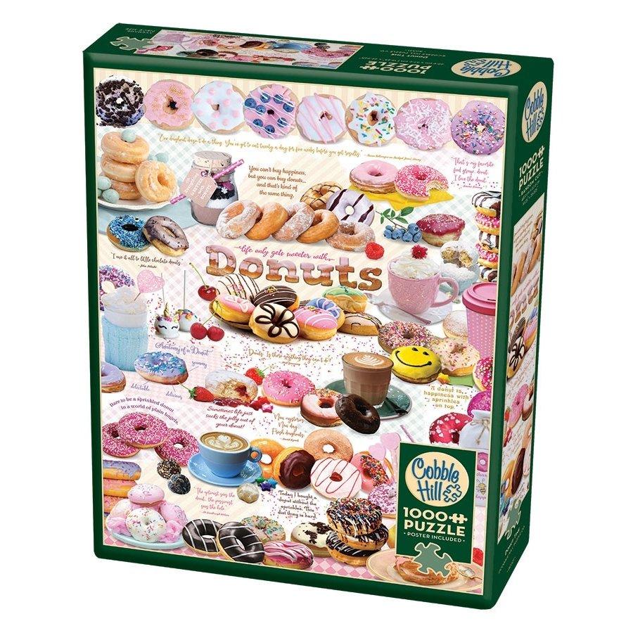 L'heure des Donuts - puzzle de 1000 pièces-2