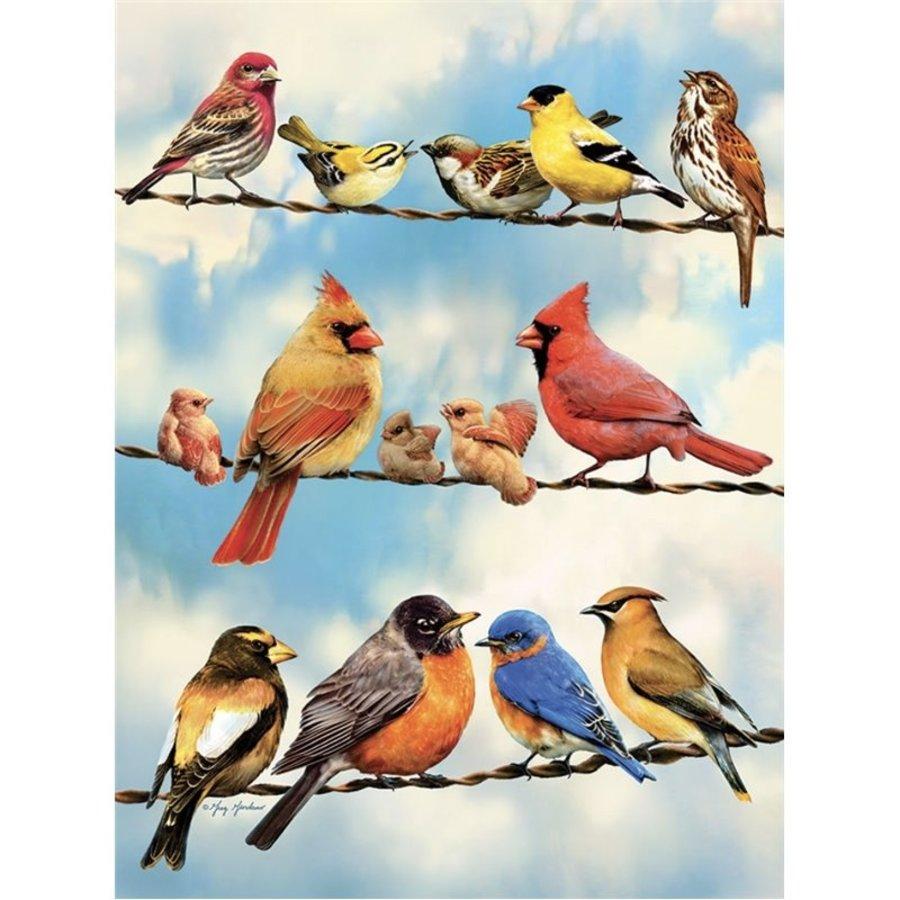 Oiseaux sur le fil - puzzle de 500 pièces XL-1