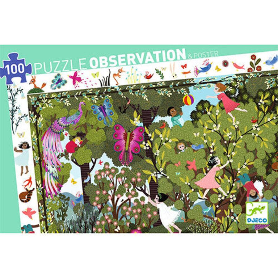 Speelplezier in de tuin - Observatie puzzel van 100 stukjes-2