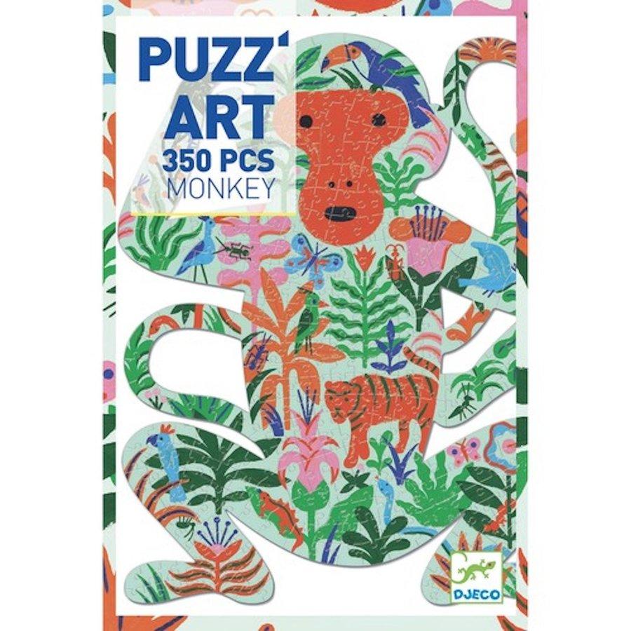 De kleurrijke Aap - puzzel van 350 stukjes-2
