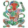 Djeco De kleurrijke Aap - puzzel van 350 stukjes
