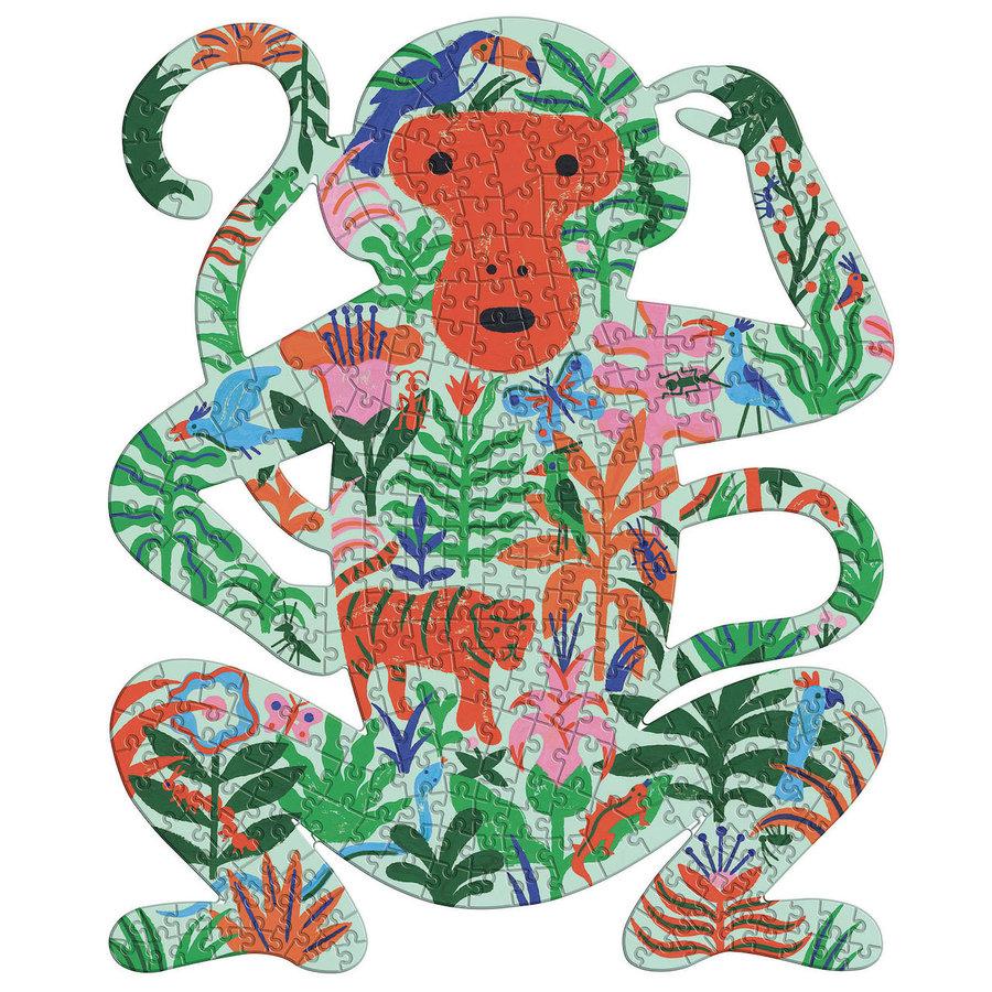 De kleurrijke Aap - puzzel van 350 stukjes-1