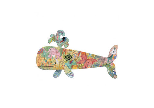 Djeco The colourful Whale - 150 pieces