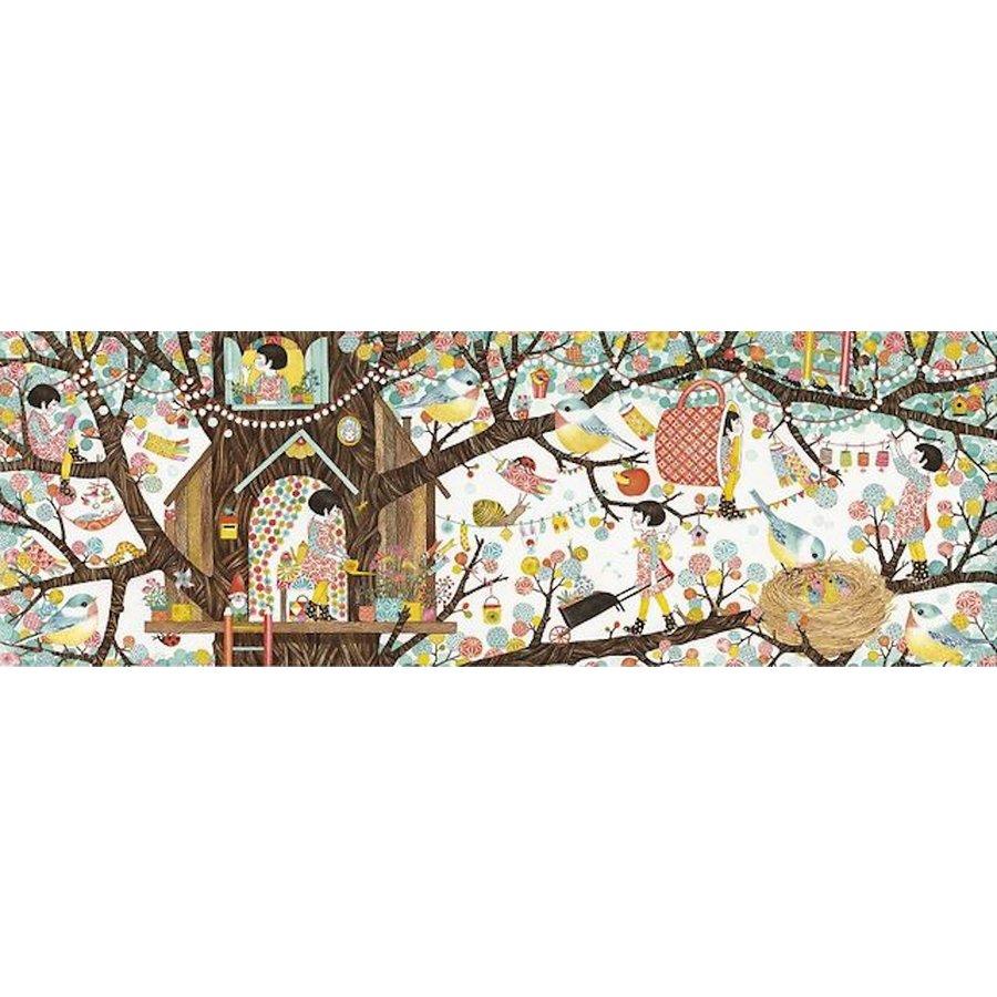 Boomhut  - puzzel van 200 stukjes - Panorama-1