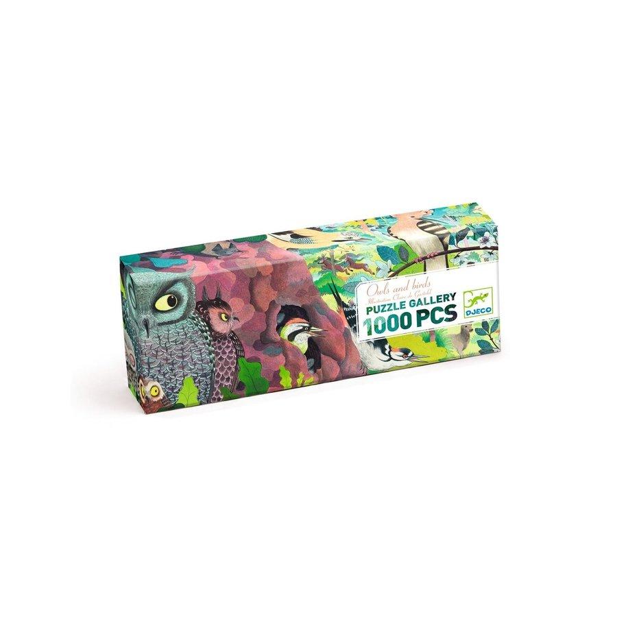Uilen en Vogels - puzzel van 1000 stukjes - Panorama-3