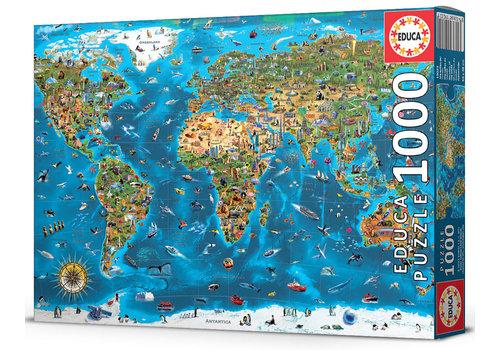 Educa 1000 Wonders of the World - 1000 pieces