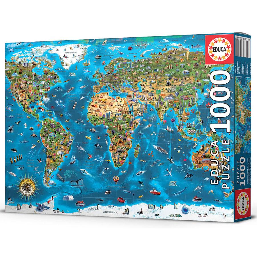 1000 Merveilles du monde - puzzle de 1000 pièces-1
