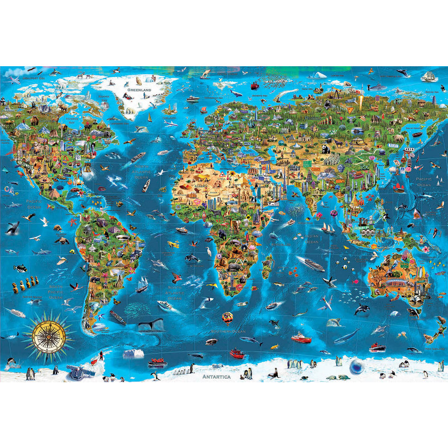 1000 Merveilles du monde - puzzle de 1000 pièces-2