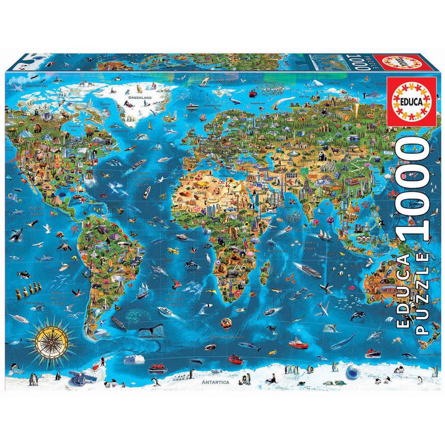 1000 Merveilles du monde - puzzle de 1000 pièces-3