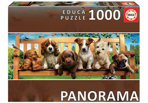 Educa Puppies on a bench - 1000 pieces