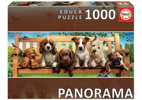 Educa Puppies op de bank - 1000 stukjes