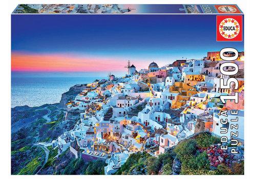 Educa Zonsondergang in Santorini - 1500 stukjes